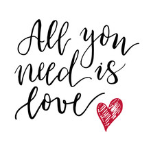 All You Need Is Love Lettering Print.