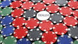 poker chips on casino table