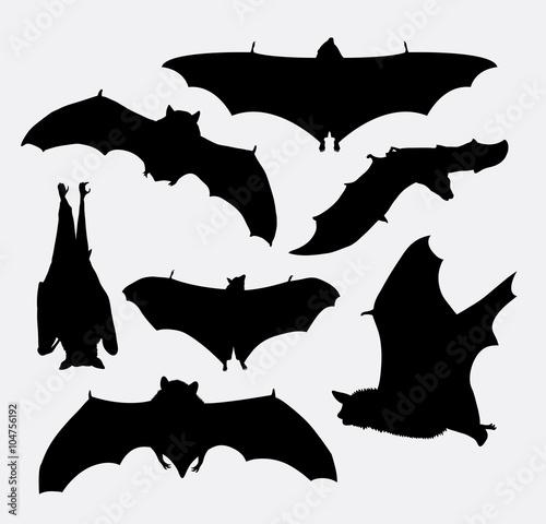 Fotografie, Obraz  Bat flying animal silhouette