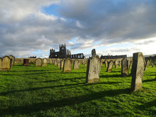 Whitby Abbey And A Graveyard