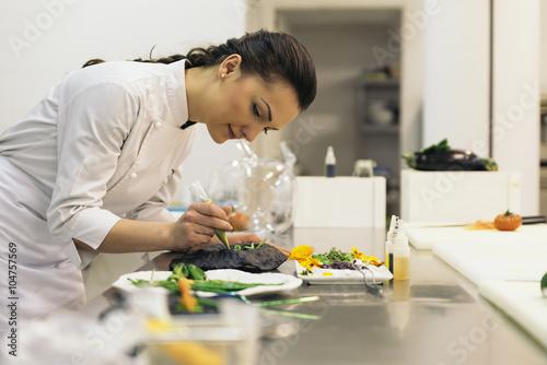 Plakat Dość profesjonalne gotowanie szefa kuchni.
