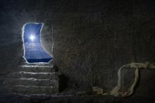 Empty Tomb Of Jesus At Night