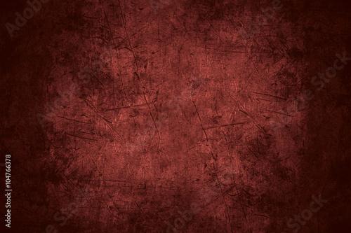 Fotografia  red scratched metal texture