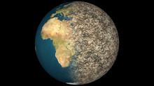Dying Earth Global Warming Heavy Pollution Affected And Dried Ea
