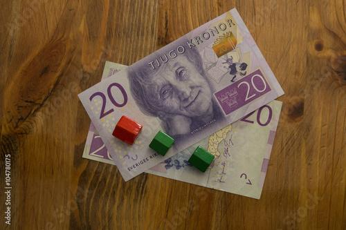 Photo  Swedish 20 kronor bill