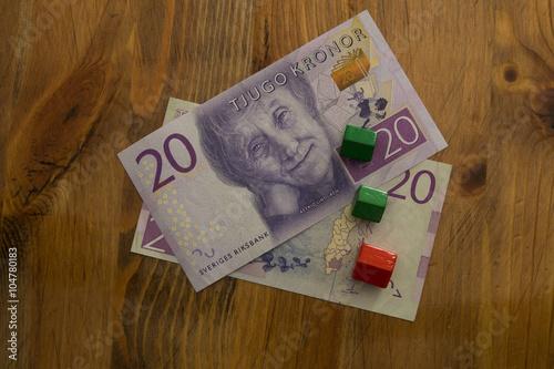 Swedish 20 kronor bill Poster