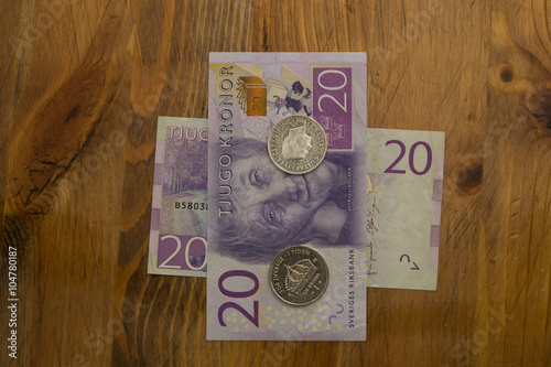 Photo  Swedish 20 kronor bill