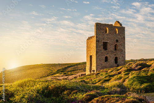 Foto op Canvas Rudnes Tin Mine At St. Agnes, Cornwall, England