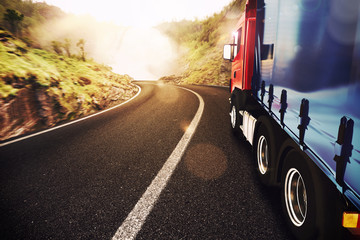 Fototapeta Transport truck
