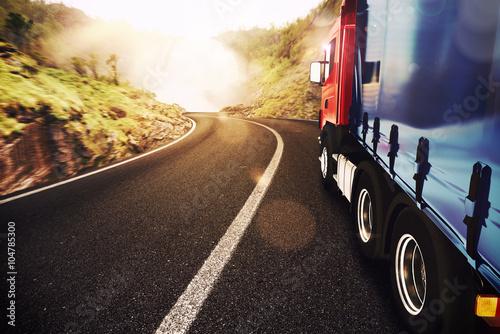 fototapeta na lodówkę Transport truck