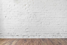 White Brick Wall Texture Backg...
