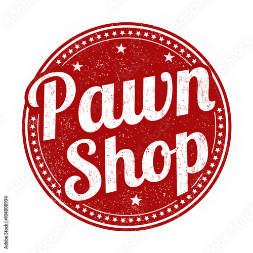 Fotografie, Obraz  Pawn shop stamp