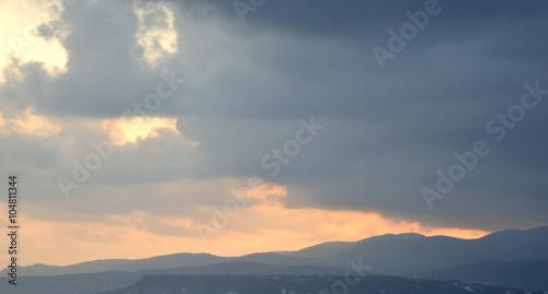 Fototapeta Clouds at sunset. obraz na płótnie