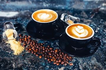 Fototapeta kawa w filiżankach