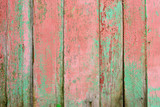 Grunge Wood panels with old painted for background, pink and gre