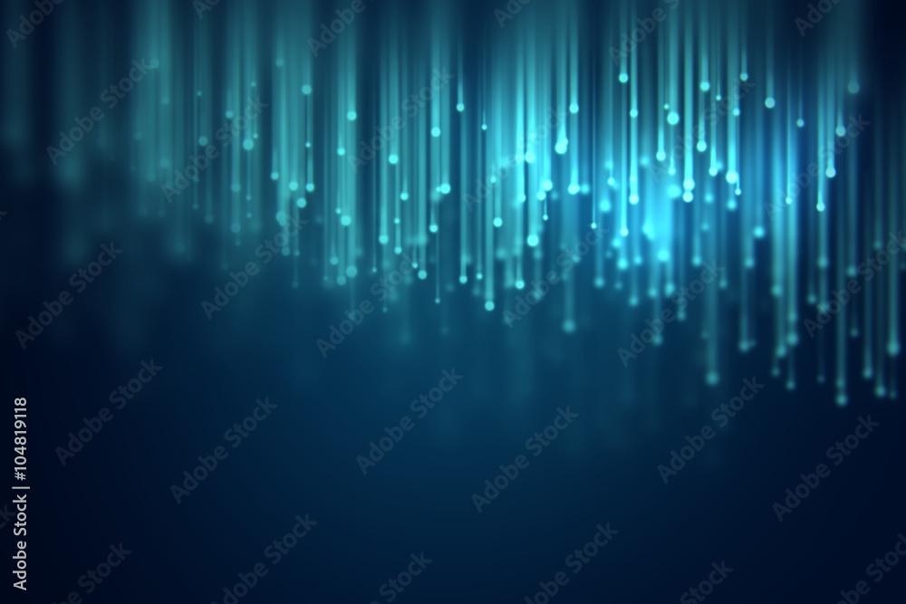 Fototapety, obrazy: defocused image of  fiber optics lights abstract background