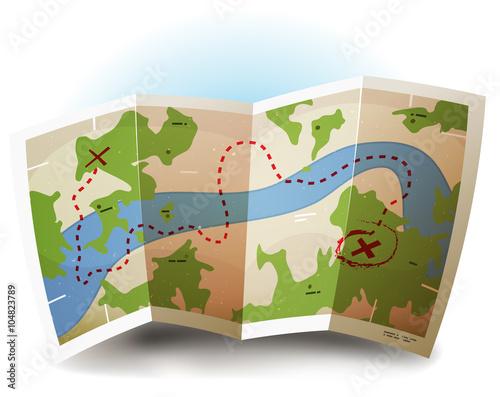 Fotografie, Obraz  Earth Map Icon