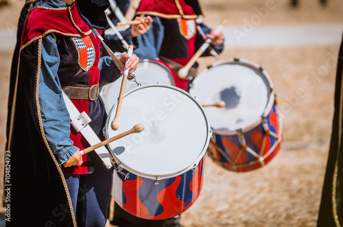 Photo Drummer in medieval parade