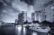 Miami buildings and skyline at dusk