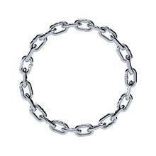 Chain Chrome Metal Frame Circl...