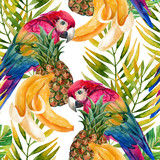 Parrot seamless pattern - 104828783