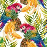 Papuzi bezszwowy wzór - 104828783
