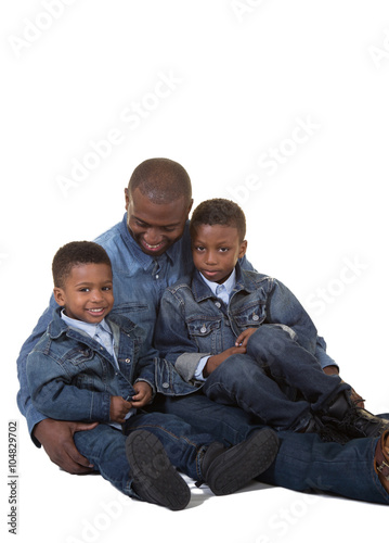 A father and his sons - Buy this stock photo and explore similar