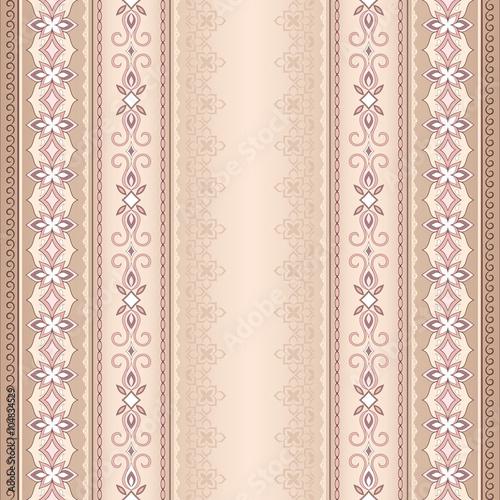 vintage-rozowy-brazowy-bezszwowe-granica-na-bezowym-tle