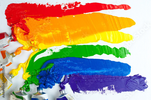 Foto  Rainbow Gay Pride Flag