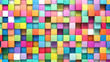 Leinwandbild Motiv Abstract background of multi-colored cubes