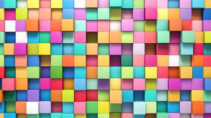 Panel Szklany Abstract background of multi-colored cubes