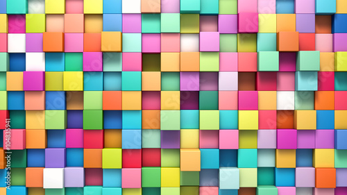 Fotografia  Abstract background of multi-colored cubes