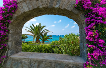 Sea View Through The Arch Fram...