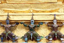 Demon Which Support Golden Chedi