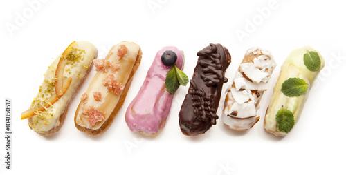Photographie  exquisite cream dessert eclairs