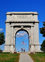 Valley Forge, Pennsylvania - October 15, 2015:  National Memorial Arch Erected To Commemorate The Arrival Of General George Washington And His Continental Army Into Valley Forge *