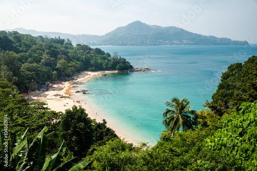 Fotografie, Obraz  Panorama of bay of Kamala Beach in Phuket, Thailand.