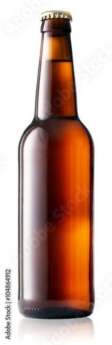 Fototapeta Brown bottle of beer obraz