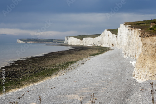 Fotografie, Obraz  The cliffs and lighthouse at Beachy Head on the south coast of Eastbourne