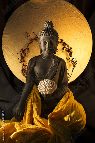 Statue de Bouddha Canvas Print