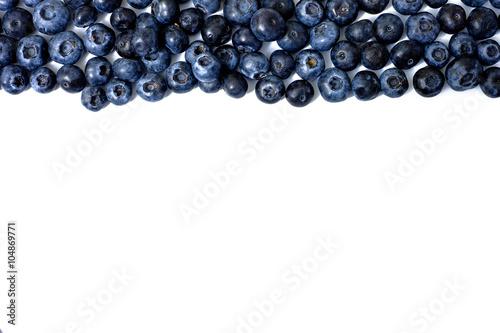 Foto blueberries top line