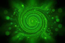 Abstract  Green Background Spi...
