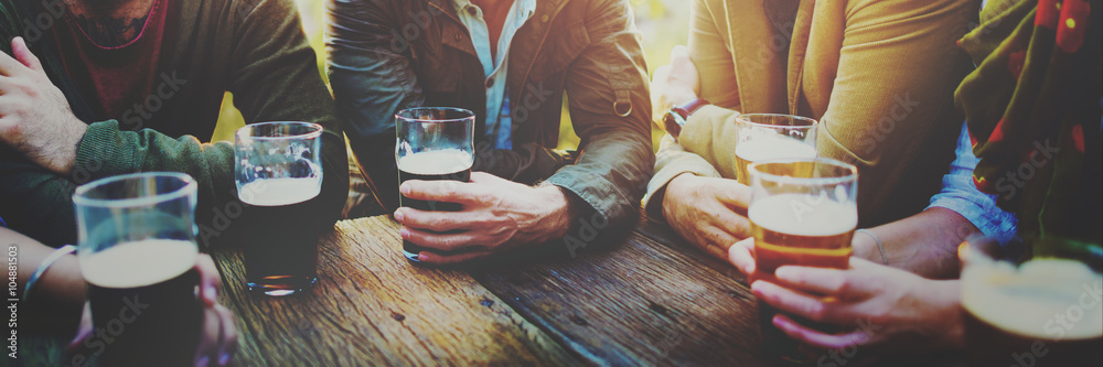 Fototapety, obrazy: Diverse People Friends Hanging Out Drinking Concept