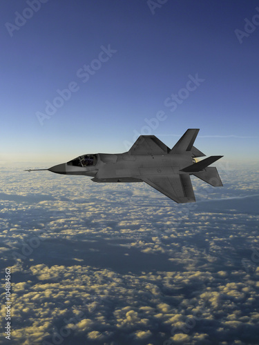F-35 modern stealth fighter - Buy this stock illustration and