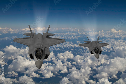 F-35 modern stealth fighter Fototapete