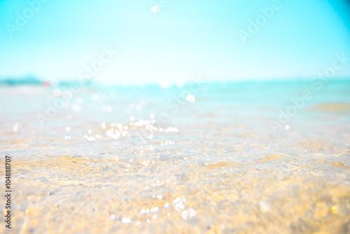 Fototapeta 砂浜と波,癒し obraz