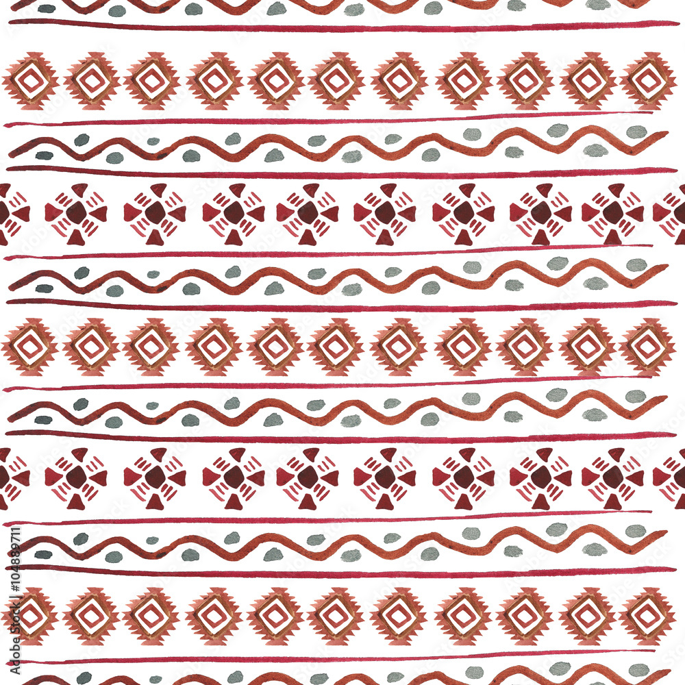 Vector tribal seamless pattern. Geometric boho elements. Isolated on white. Can use them for your design, post cards, prints, invitations, greetings or even for printing on fabrics.