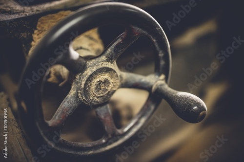 Rusty wheel for carpentry