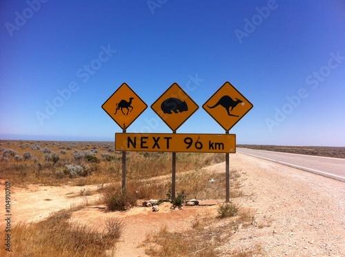 Poster Oceanië Nullarbor desert australie