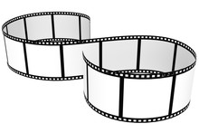 Film Strip Isolated With White Background